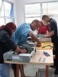 Kelly, Jonathas, Renan e Jorge desmontando PCs vivos