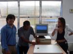 Parabéns! Antônio e Thaís apresentando o PC funcionando.