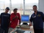 Parabéns! Ivo, Anderson e Jonas apresentando o PC funcionando.