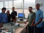 Parabéns!Kelly, Renan e Jonathas apresentando o PC funcionando.