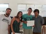 Entrega de certificados: Felipe