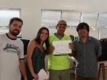 Entrega de certificados: Jorge